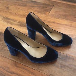 32f68751481 Ann Taylor Shoes - Ann Taylor emeline navy blue velvet pumps